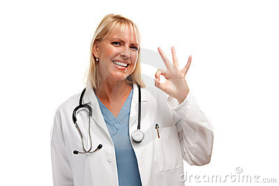 Friendly Female Blonde Doctor