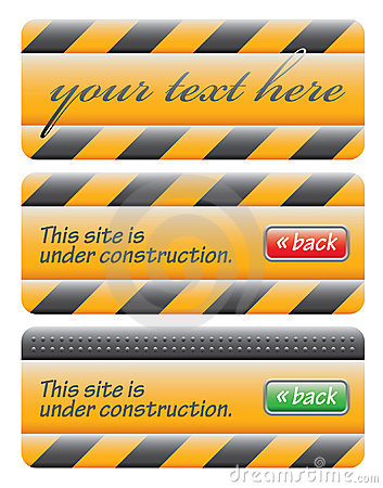 Web site under construction message set