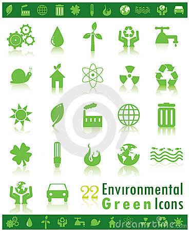 Environmental Green Icons