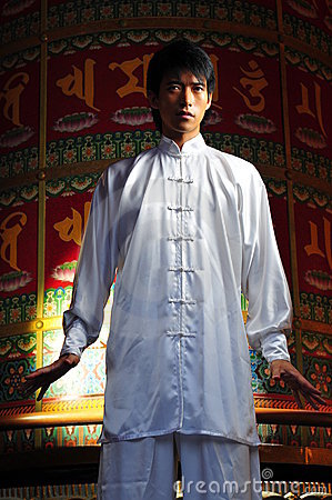 Young Asian Man In Traditional Clothing