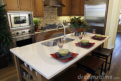 Luxury home kitchen island