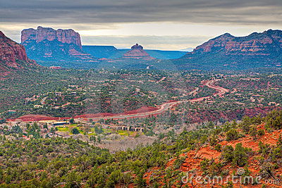 Road through Red Rocks