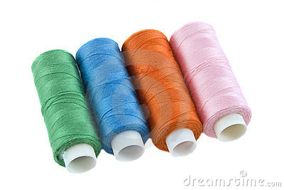 Many colorful threads