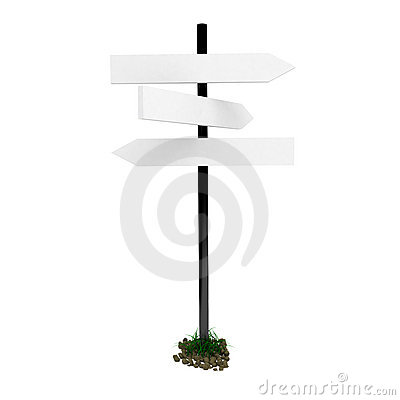 3d road sign isolated on white.