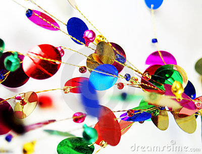 Bright and colorful abstract decorations