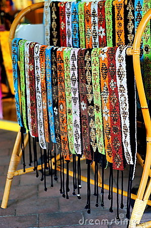 Colorful handmade belts