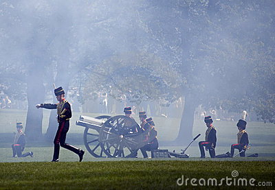 Queen's birthday Gun Salute