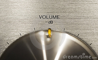 Volume push button on a hi-fi