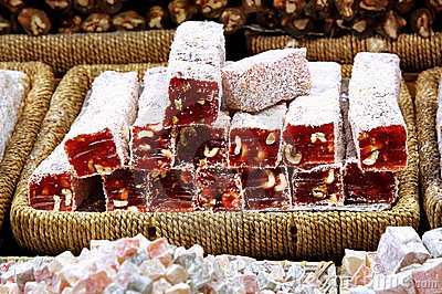 Turkish Delight with hazelnut