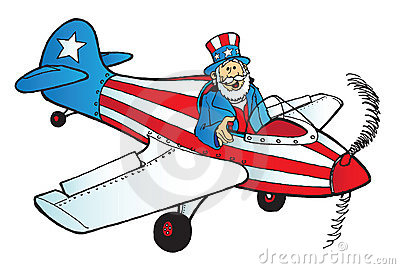 Uncle Sam in plane