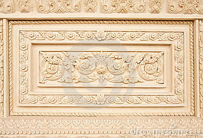 Traditional Thai style molding art