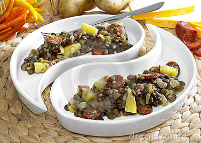 Lentil with potatoes