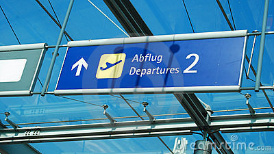 Airoport sign (departures)
