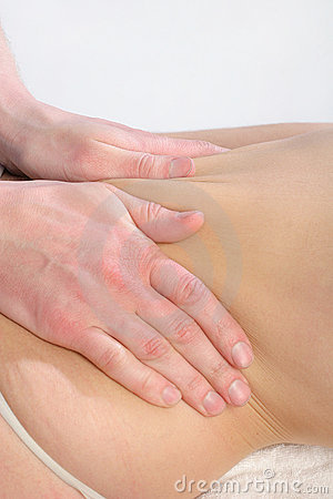 Spine massage close-up