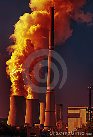 Coal power plant and pollution