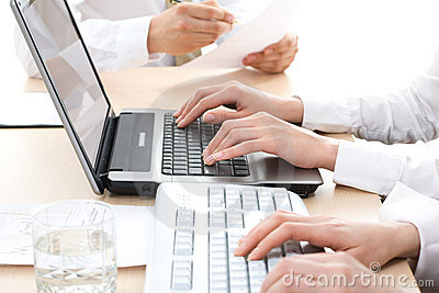Human hands Typing