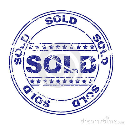 Rubber ink stamp: sold (vector)