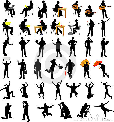 People collection silhouettes