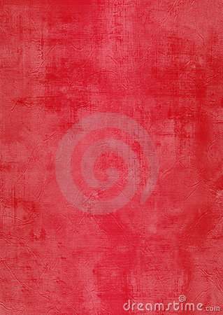Grunge red plaster wall with stains