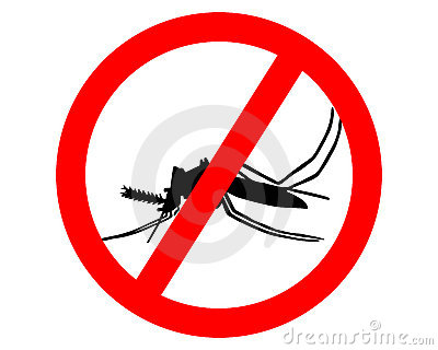 Prohibition sign for mosquitos