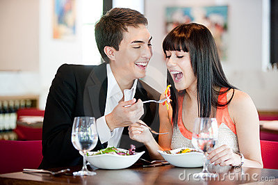 Man Feeding Girlfriend