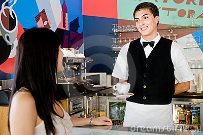 Waiter Serving Coffee