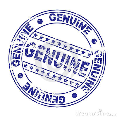 ink stamp : genuine (Vector)