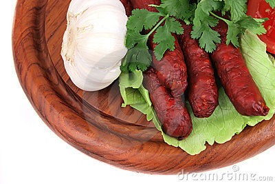 Spice sausages ready to eat