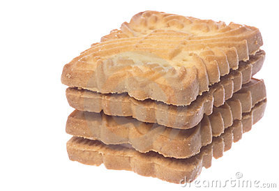 Biscuits Macro Isolated