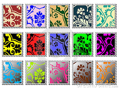 Modern stamps