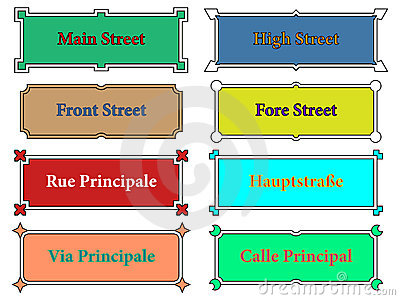 Street name signs