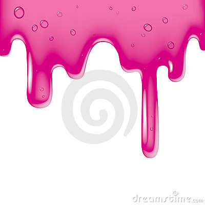 Pink viscous liquid