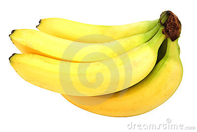 Fresh brunch of banana