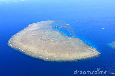 A coral island of the Great Barrier Reef