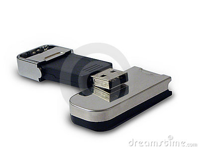 USB key isolated on white