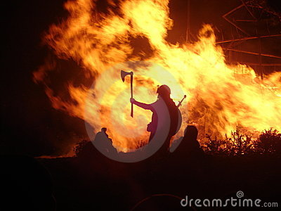 Viking by firelight
