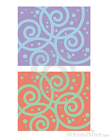 Decorative pattern spiral