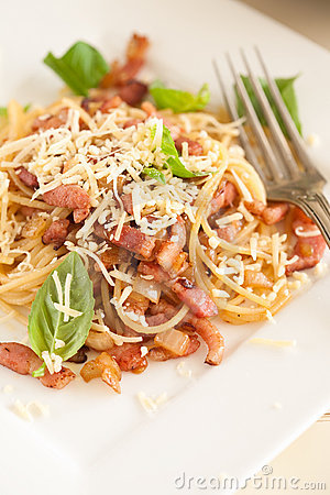 Garlic bacon spaghetti