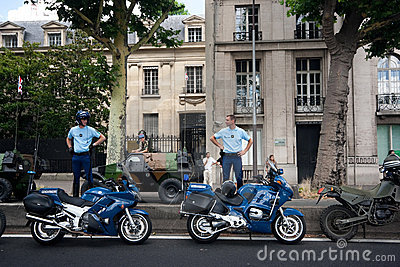 Police with motorbikes