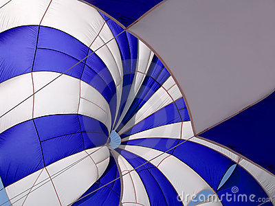 Blue-white parasail
