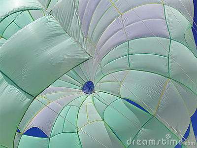 Green-white parasail