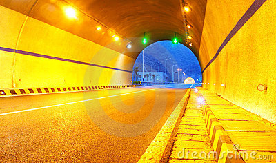 Highway and tunnel