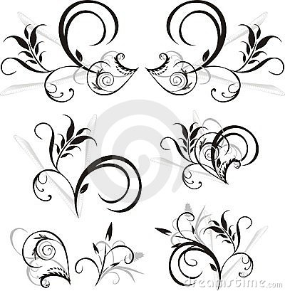 Pattern of floral ornaments for design