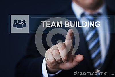 Teamwork Team building Successs Partnership Cooperation Business Technology Internet Concept