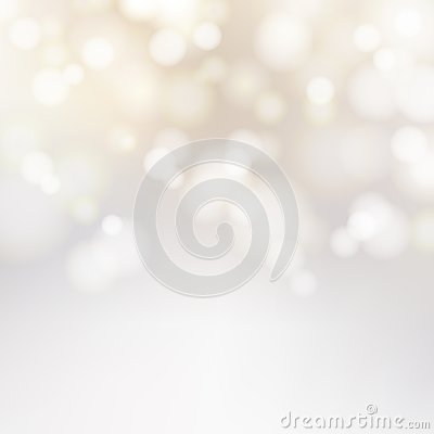 Bokeh silver and white Sparkling Lights Festive background with
