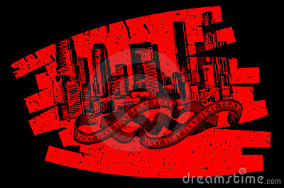 Red Black Grunge Graffiti Banner