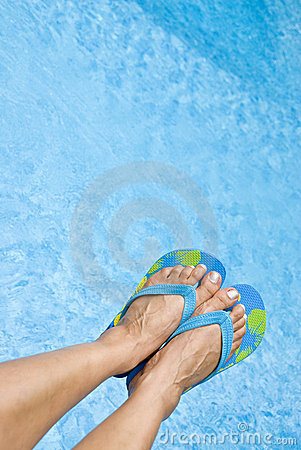 Feet Over the Swimming Pool