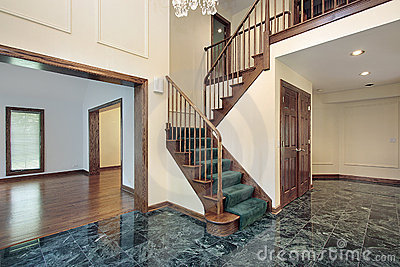 Foyer in suburban townhouse