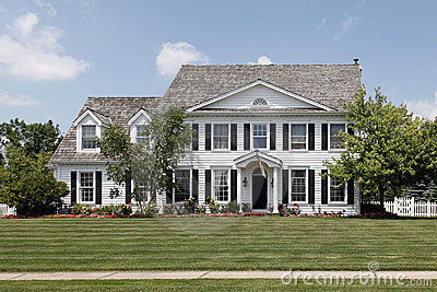 Colonial home in suburbs