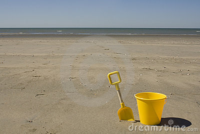 Yellow bucket and spade